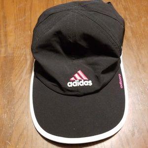 Adidas adizero pink white logo adjustable ballcap